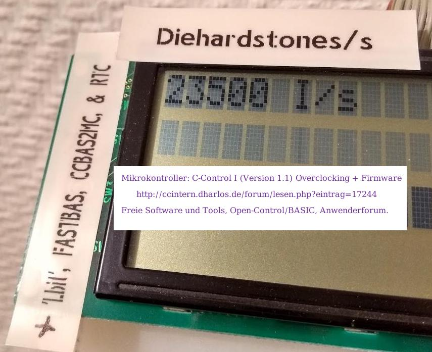 HD44780-kompatibles 27x2 Zeilen LCD (mit 2x LCD-Kontrollern)